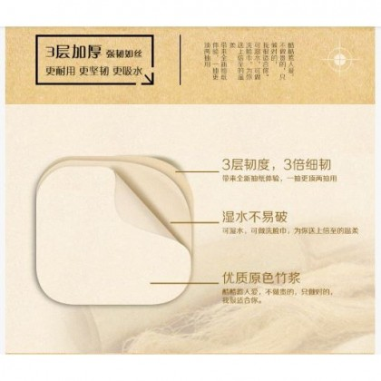 Bamboo Fibre Paper Roll 10's pack